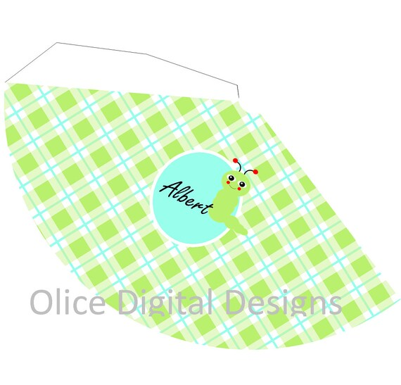 Caterpillar Party Hat - Birthday Party Hat Template - Green