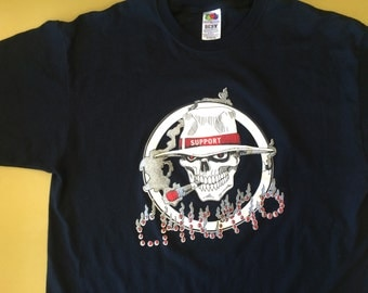 Vintage Chicago Known Associate Skull 83 Smoking Support 90's Grunge XL Gangs