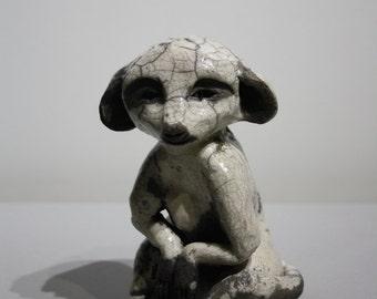 Ceramic raku meerkat