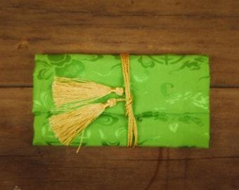 Brocade Silk Jewellery Roll ~1 pieces #100351