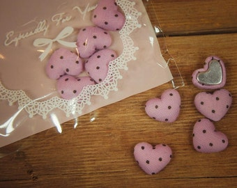 Padded Heart Applique ~5 pieces #100334