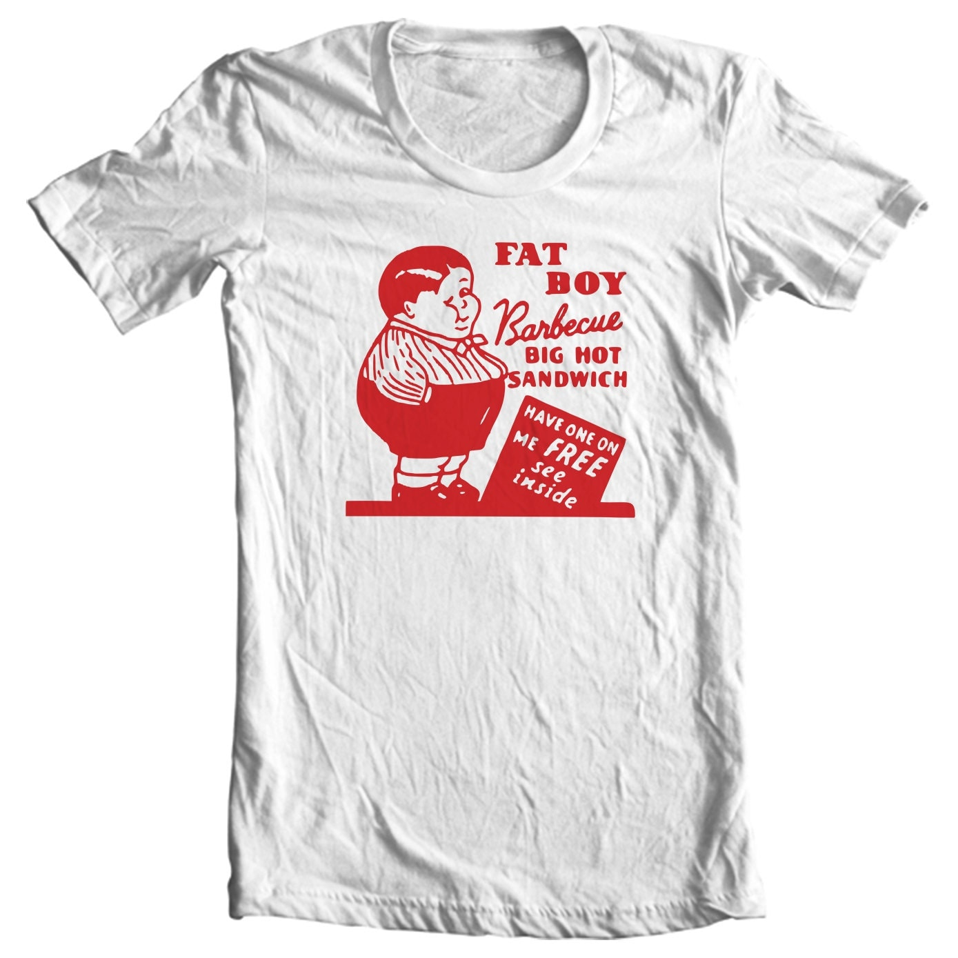 Fat Boy Barbecue San Francisco California Vintage Matchbook T-shirt