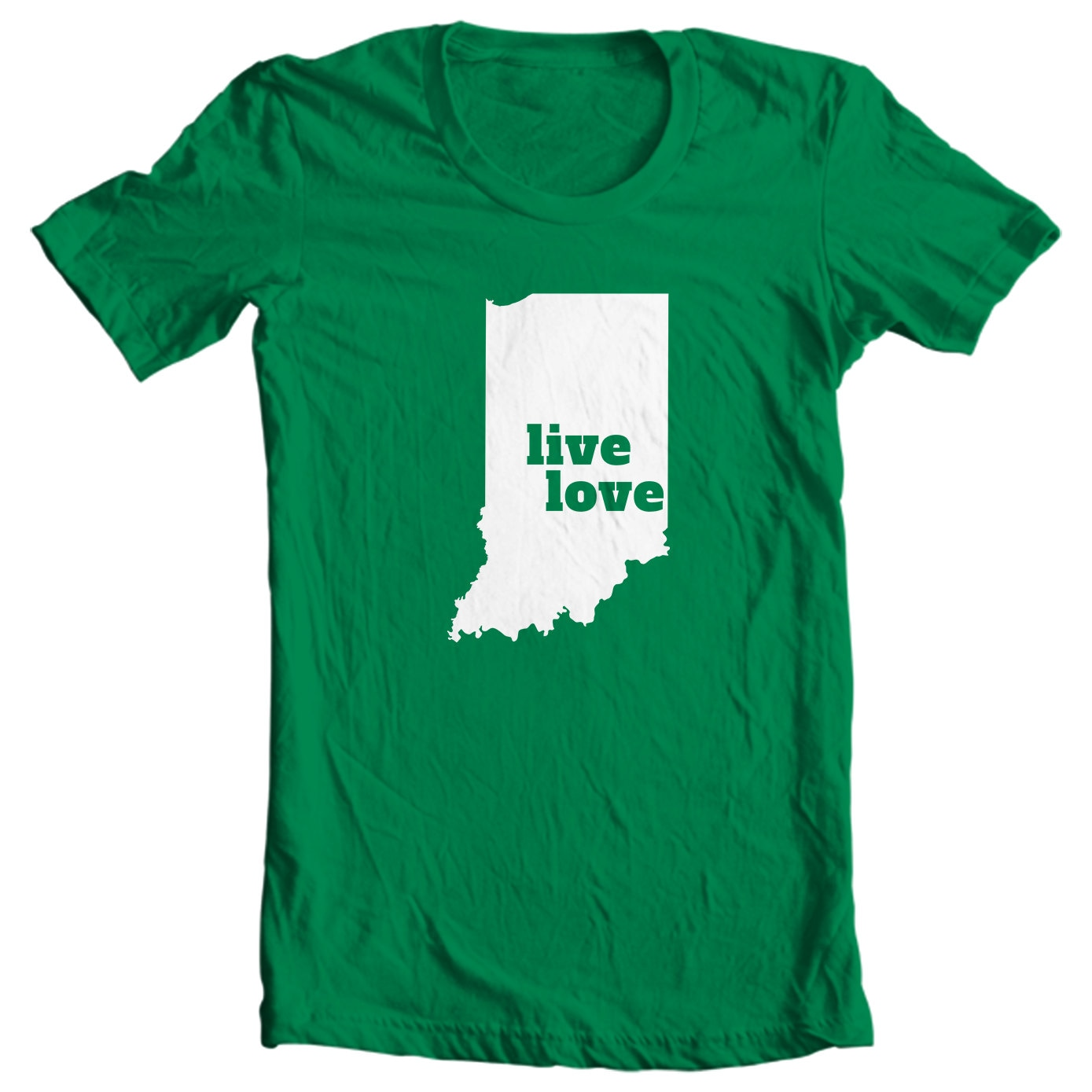 Indiana T-shirt - Live Love Indiana - My State Indiana T-shirt