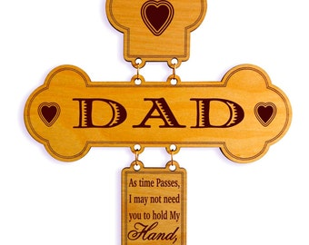 Dad Wedding Gift from Bride, Father's Day Gift for Dad from Daughter, Custom Daddy Wall Cross, Papa Valentines day Gift.