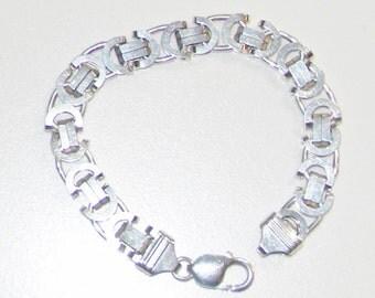 Heavy silver bracelet