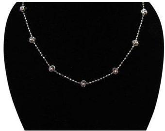 925 Sterling Silver Diamond Cut Beads Chain