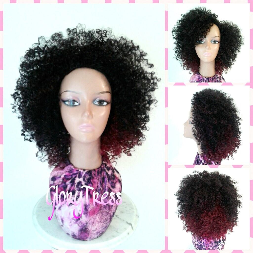 Curly Short Half Wigs 16