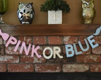 Pink Or Blue Banner, Gender Reveal Banner
