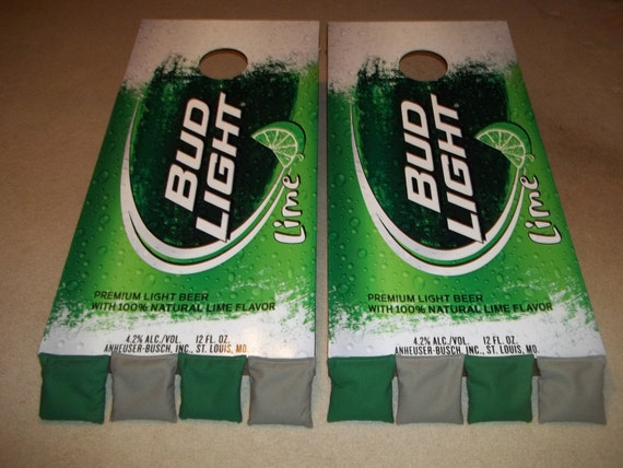 Bud Light Lime Corn Hole Boards Bean Bag Toss Game