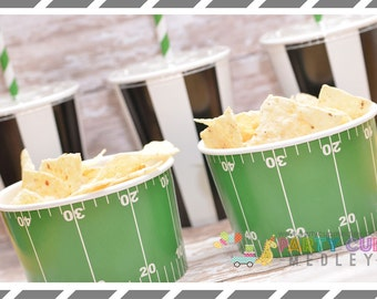 Football Party Cups-Super Bowl Party Cups and Lids-Favor Cups