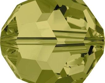Swarovski Crystal Round Beads 5000 - 3mm 4mm 6mm 8mm - Khaki