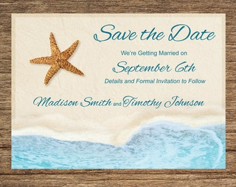 Beach Save The Date BCH-02-STD-Digital Download