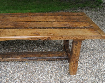 Oak dining table bespoke Handmade Refectory style