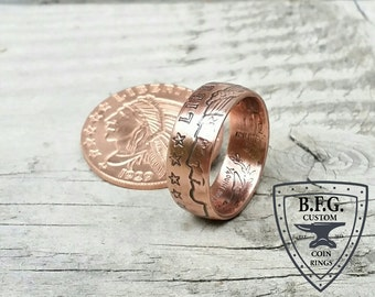 Incuse Indian 1/4oz .999 Fine Copper Coin Ring
