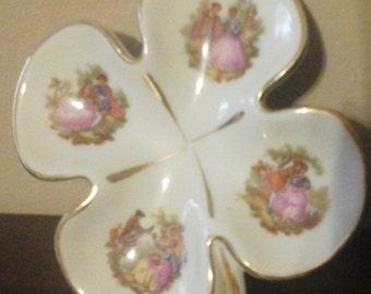 Porcelaine Limoges France Clover Decorative