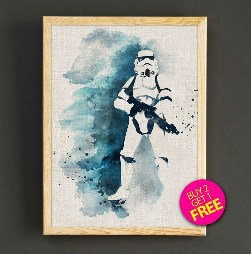 Stormtrooper Watercolor Art Print Star Wars by Star2Go on Etsy