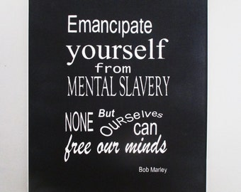 Bob Marley Spiritual Quote on Canvass