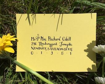Wedding Calligraphy Envelope Addressing   Modern calligraphy   Wedding invitations