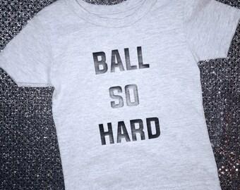 BALLIN HARD BABY bb tee - Ball So Hard Shirt - Watch The Throne Shirt - Kanye + Jay Z