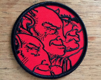 Roky Erickson inspired I See Demons embroidered patch 3""