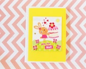 Lemon Color Birthday Card- Funny Card - Note Card - Tag Card - Just For You Greeting Card