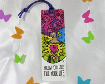 Inspirational Bookmark with Ribbon