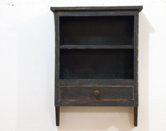 Primitive Wall Shelf, Antique Wall Shelf, Distressed Shelf,Bathroom Shelf, Rustic Wall Shelf,Primitive Bathroom Cabinet, Kitchen Cabinet