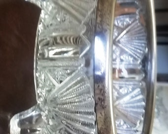 Art Deco Chrome & Glass Centerpiece Bowl