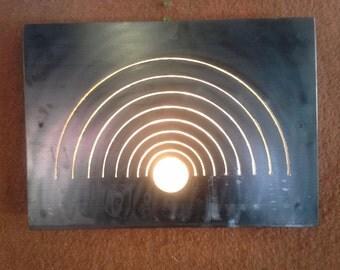Metal Wall lamp light waves