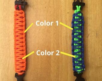Customizable King Cobra Paracord Bracelet
