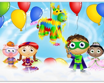 Super Why Characters Edible Cake topper
