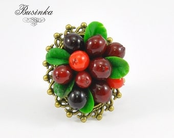 Cranberry Ring * Berry jewelry * cranberry jewelry * forest ring * red jewelry * red ring * romantic cranberry * cranberry rings ring dreams