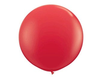 1- Round Red 36 inch Balloon- Colorful and great quality. Helium Quality