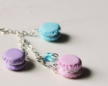 Mini Macarons Phone plug charm - Kawaii pastel colors phone charms clear dust plug