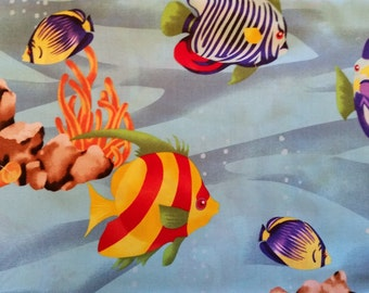 "Valance 42""x15"" panel ""Fish"""