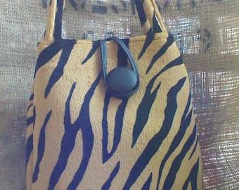 Tiger Striped Vintage Handbag