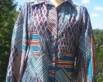 70's Polyester Blouse