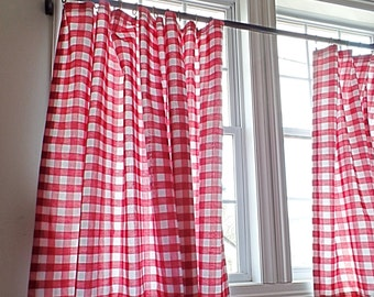 Gingham Curtain Panel