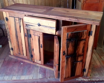 Reclaimed Oak Cupboard , Cabinet, Handmade in Chile, Wooden Cabinet, wood cupboard.