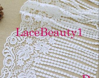 Embroidery Lace Trim Vintage lace trim floral lace trim white Lace Trim