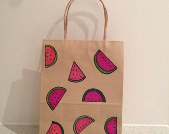 Watermelon Kraft Paper Gift Bag