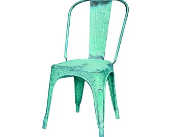Industrial Distressed French Cafe Bistro Chair