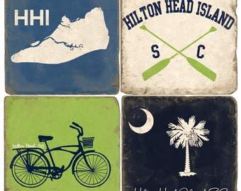 Hilton Head Island Italian Marble Coasters (set of 4)