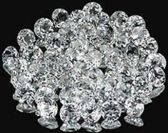 Lot of 50 Pieces Natural White Topaz 1.75 mm Round Cut Faceted Loose Gemstones
