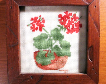 Posey Flowers in Needlepoint