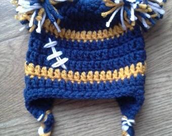 Football PomPom Hat