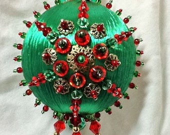Traditional Red and Green Ornament