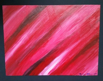 """12x16 inch Acrylic Painting """"See Red"""""""