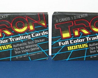 Vintage  Lot of 2 1982 Donruss Tron Wax Packs (Old Store Stock)