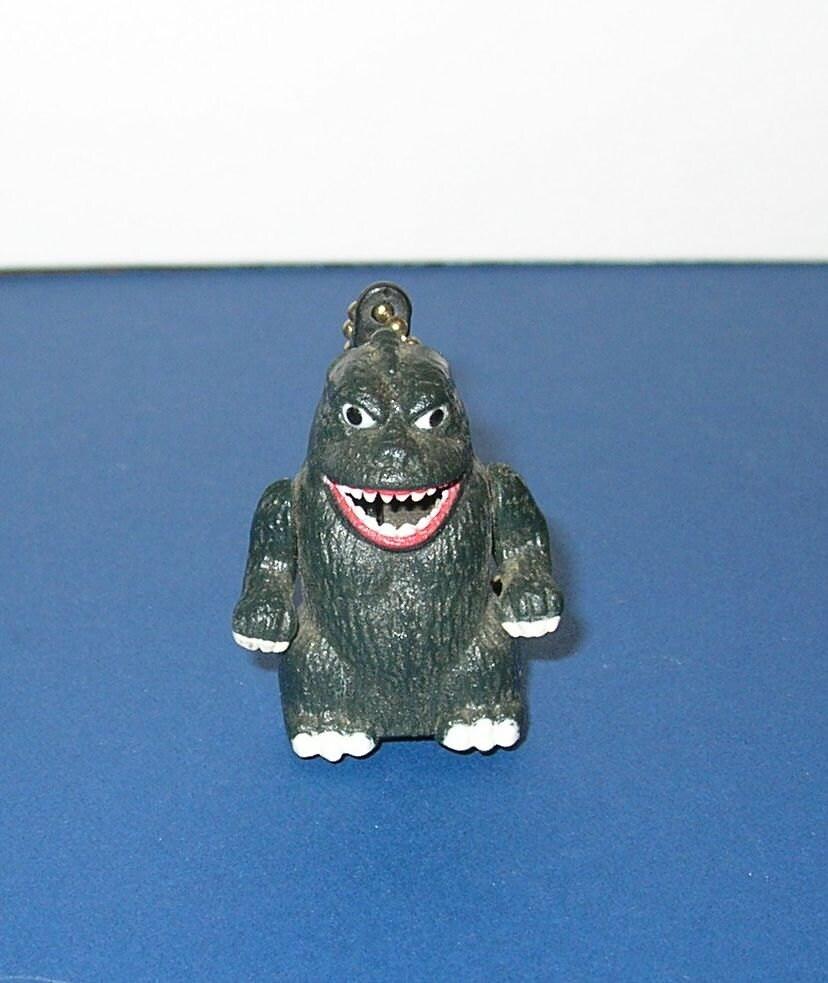 Vintage 90s Takara Sparking Godzilla Keychain Toy